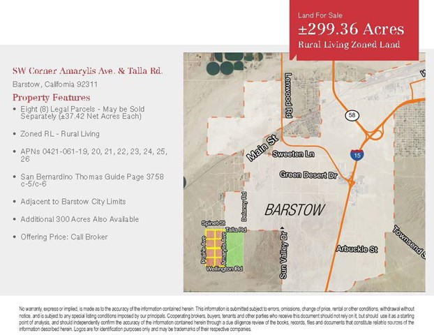 Single Family for Sale at 0 Amarylis Avenue Barstow, California 92311 United States