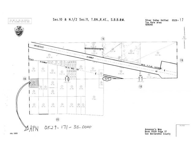 0 NEWBERRY SPRINGS Place Newberry Springs, CA 92365 - MLS #: IV18054668