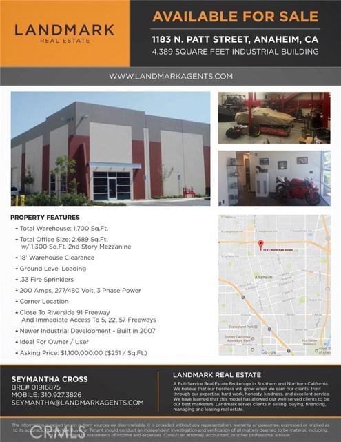 1183 Patt Street, Anaheim, CA, 92801