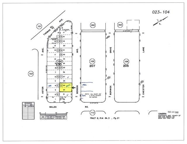 0 Benson Avenue Cambria, CA 93428 - MLS #: SC17249622