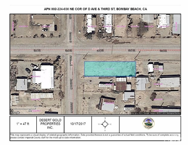 Land for Sale at Lot 147 Avenue D Bombay Beach, California 92257 United States
