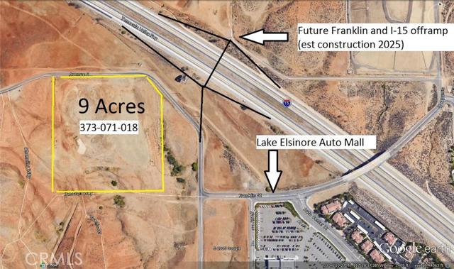 Land for Sale, ListingId:36282700, location: 901 East Franklin Ave Lake Elsinore 92530