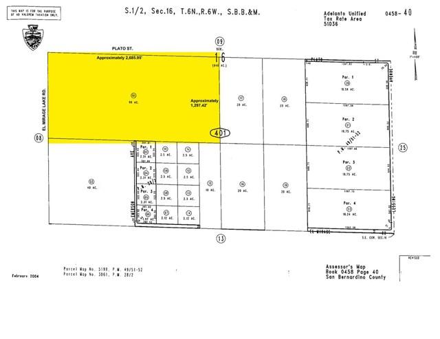 Land for Sale at 0 Plato Road 0 Plato Road El Mirage, California 92301 United States