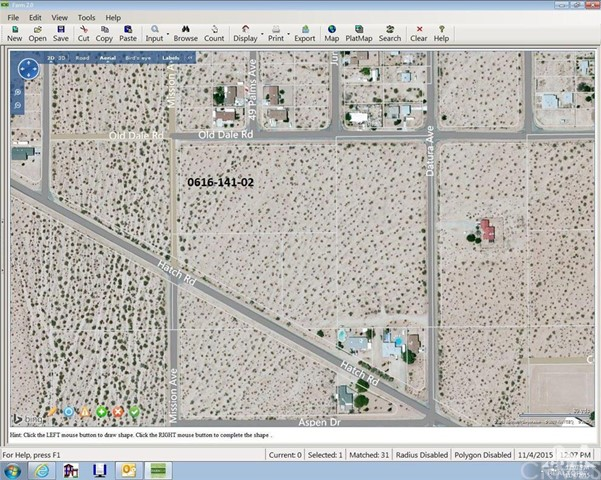 Old Dale Road, 29 Palms, California, 92277