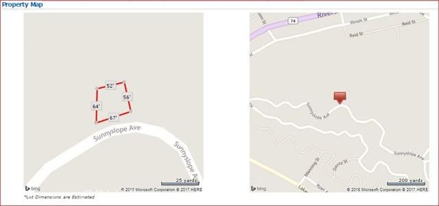 0 Sunny Slope Lake Elsinore, CA 0 - MLS #: IG17209977