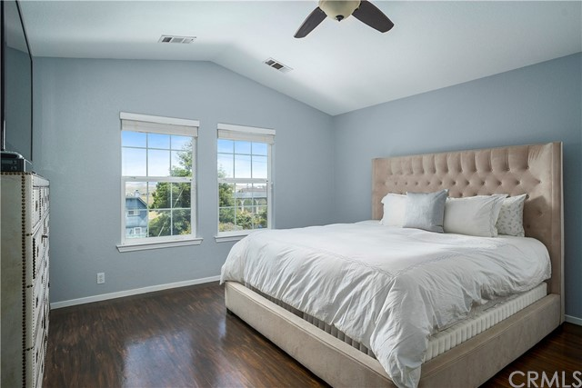Master Bedroom with great views of Santa Lucia Mtn