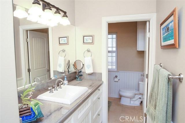 Bathroom 3- Natural stone floor. Tile bath surroun