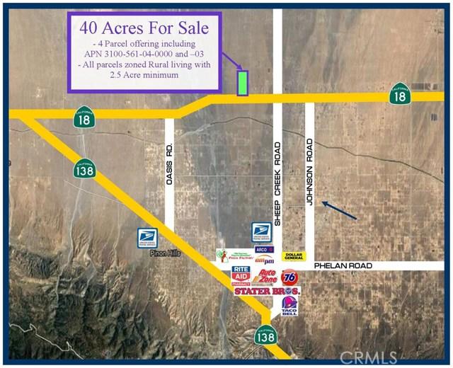 0 Highway 18 Pinon Hills, CA 92372 - MLS #: SW17189756