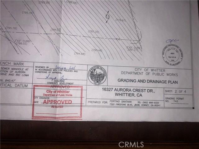 16327 aurora crest Drive Whittier, CA 0 - MLS #: DW18093517