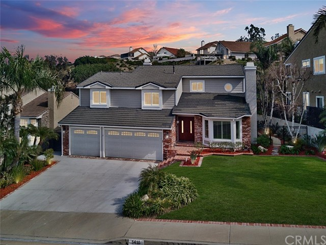 One of Custom Built Anaheim Hills Homes for Sale at 5410 E Estate Ridge Road