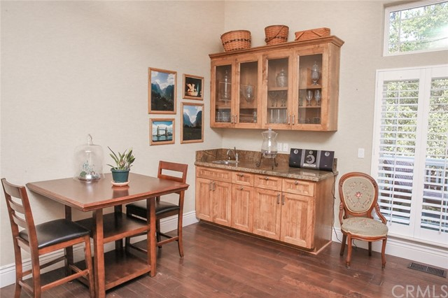 Great Hall room with bar sink and granite top