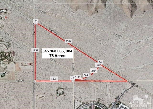 Photo of home for sale at 76 Acres Dillon & Sky Ridge Rd, Desert Hot Springs CA