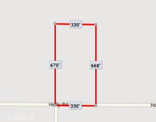 0 Holly and Vinton Road Adelanto, CA 92301 - MLS #: TR17166011