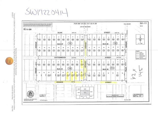0 Orange Street Wildomar, CA 92584 - MLS #: SW17220414