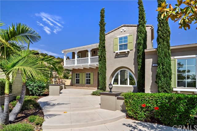 Exquisite Tuscan inspired estate is nestled at the base of the Claremont foothills in the Stone Canyon Preserve of Padua Hills. Built in 2008 this home rests at the end of the cul-de-sac and features 5,629 square feet of living space including 5 bedrooms, each hosting a private on-suite bathroom, PLUS a separate powder room for guests. As you enter you are greeted by lustrous tile and wood floors leading your through the spacious floor plan with high ceilings, recessed lighting and many windows allowing nExquisite Tuscan inspired estate is nestled at the base of the Claremont foothills in the Stone Canyon Preserve of Padua Hills. Built in 2008 this home rests at the end of the cul-de-sac and features 5,629 square feet of living space including 5 bedrooms, each hosting a private on-suite bathroom, PLUS a separate powder room for guests. As you enter you are greeted by lustrous tile and wood floors leading your through the spacious floor plan with high ceilings, recessed lighting and many windows allowing natural light to fill the home. In your family room you have a fireplace and two story high ceilings that open up to your gourmet eat-in kitchen where you will feel like a chef with stainless steel appliances, 2 expansive islands, a large food pantry and a butler's pantry leading to your formal dining room with a fireplace. Upstairs your master bedroom awaits you with a double sided fireplace, a large retreat and French doors that open to a private balcony overlooking the valley. The master bathroom has dual sinks, a soaking tub, a shower big enough for two and a spacious walk-in closet. The backyard was designed for entertaining, with a sparkling blue pool and spa, gas fire pit, an outdoor kitchen with stainless steel bbq and a gazebo with fireplace where you can relax and kick up your feet after a long day. Additionally, the home has an oversized laundry room, 4 garage spaces a 3 car garage with a tandem space and a 1 car garage.