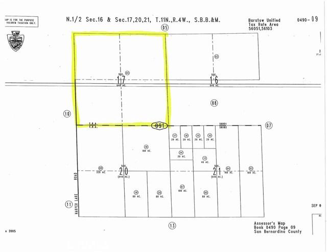 土地 为 销售 在 1 Harper Lake Road Barstow, 加利福尼亚州 92347 美国