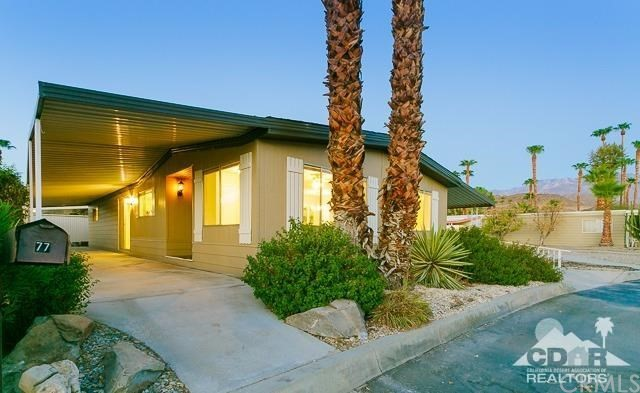 77 Desert Rose Drive Palm Springs, CA 92264 is listed for sale as MLS Listing 217000860DA
