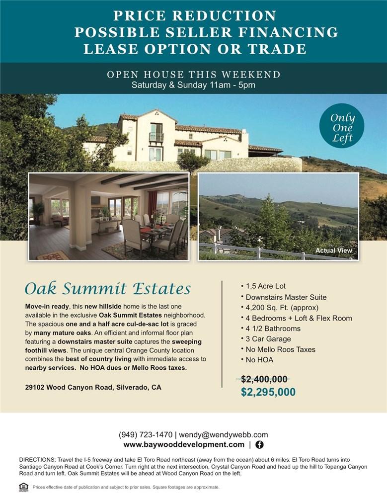 29102 Wood Canyon Road Silverado Canyon, CA 92676 - MLS #: OC17089389