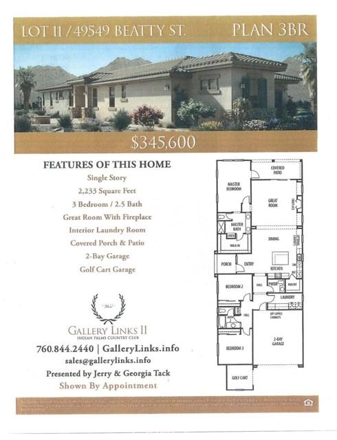 49549 Beatty Street Indio, CA 92201 - MLS #: 218011784DA