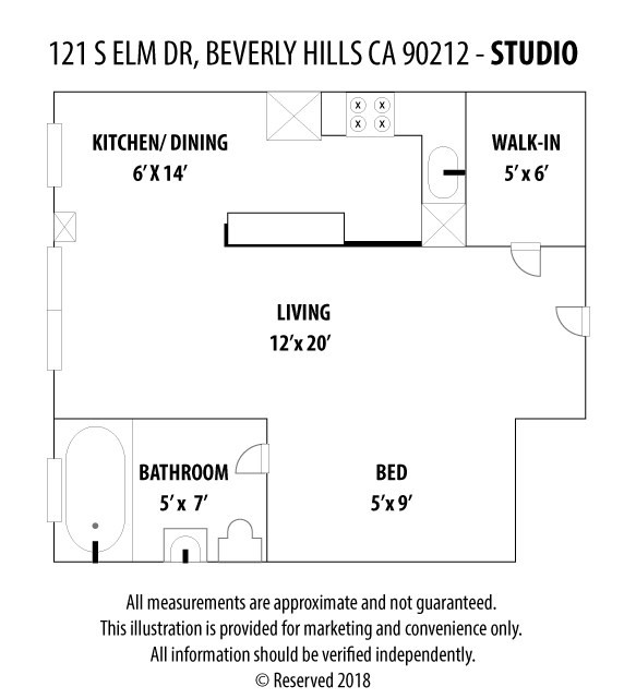 121 S Elm Drive Unit 3 Beverly Hills, CA 90212 - MLS #: SB18205073