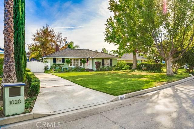 1020 Portola Drive, Arcadia, CA 91007