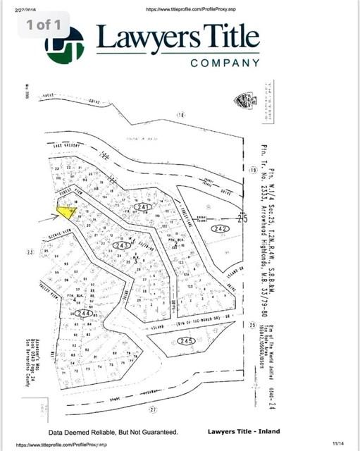 0 FOREST VIEW DRIVE Crestline, CA 0 - MLS #: CV18046088