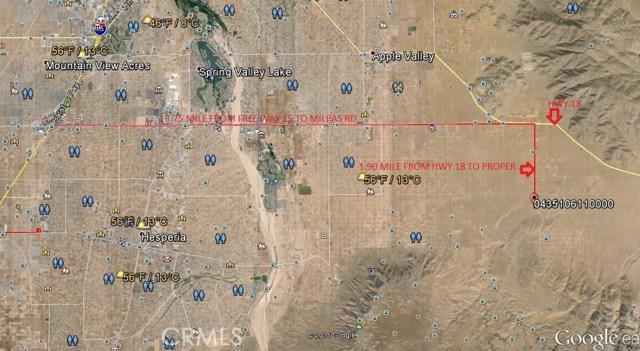 0 Milpas Road Apple Valley, CA 92308 - MLS #: TR17046205