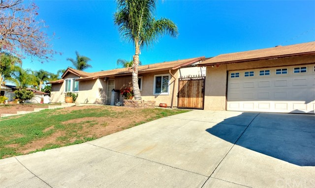 Great corner lot pool home! 3 bedrooms, 2 bath, living room, charming kitchen, good size yard with pool, spa & covered patio area, new double pane windows & stucco.