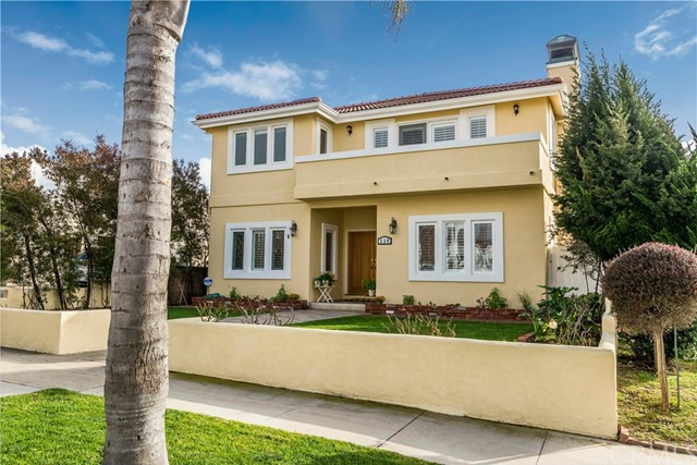 "Nestled along the Pacific & only 8.9 miles from LAX, THIS IDYLLIC HOME is located in the COVETED LOWER AVENUES only 1 3/4 blocks to the spectacular Esplanade WITH ITS MAJESTIC OCEAN & MOUNTAIN VIEWS! Rebuilt in 1998 (down to the studs), this 3216 sq. ft. 4 Bed, 3.75 Bath home is rare gem as only 2 homes west of PCH on the lower avenues came to market & sold in all of 2017! This CUSTOM CONTEMPORARY SPANISH home sits on a large 42'x143' street to alley lot and offers a private backyard, an immaculate 3 CAR GARAGE, an indoor SALTWATER POOL (679 s.f pool house), A/C, plantation shutters, freshly painted inside & out, beautifully refinished OAK HARDWOOD floors, custom lighting & ceiling fans, TONS OF STORAGE, a CHEF'S KITCHEN w/walk in pantry, 48"" Sub-Zero Refrigerator, Therador 6 burner cooktop, warming drawer, and granite counter center island. There are 2 FIREPLACES, one in the sunny living room & one in the spacious MASTER BEDROOM which also features an ocean peek through the trees deck, 2 custom walk-in closets, an adjoining HOME OFFICE w/custom cabinetry. Luxuriate in the Master Bath spa tub or the over-sized shower. The 1ST LEVEL BEDROOM & BATH are great for your visiting in-laws or guests.  Put the kids in the upstairs bedrooms & look out the windows to pretty views of the Palos Verdes hills.  Close to the award winning schools, charming Riviera Village with its restaurants & shopping, this is EXACTLY WHAT YOU'VE BEEN WAITING FOR!"
