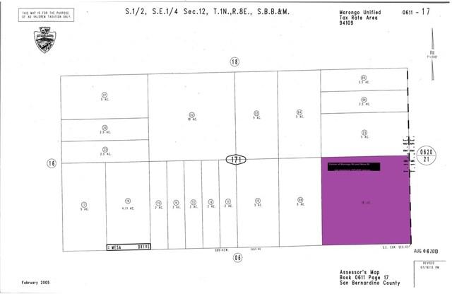 0 Mesa, 29 Palms, California 92277, ,Land,For Sale,Mesa,CV20199351