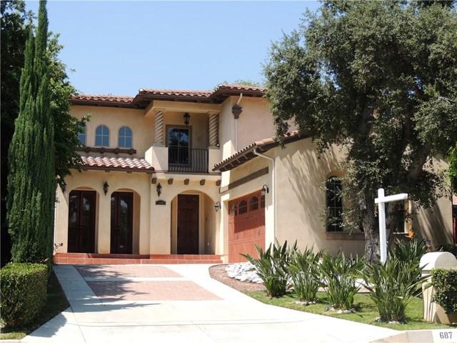 Casa Unifamiliar por un Venta en 687 Ramona Avenue Sierra Madre, California 91024 Estados Unidos