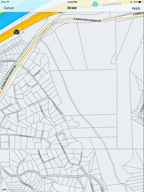 土地 为 销售 在 101 Deer Canyon Road Anaheim Hills, 加利福尼亚州 92808 美国