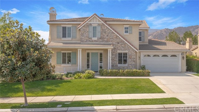 Photo of home for sale at 8603 Edelweiss Drive, Corona CA