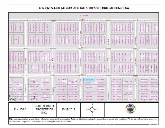 土地,用地 为 销售 在 Lot 147 Avenue D Bombay Beach, 加利福尼亚州 92257 美国