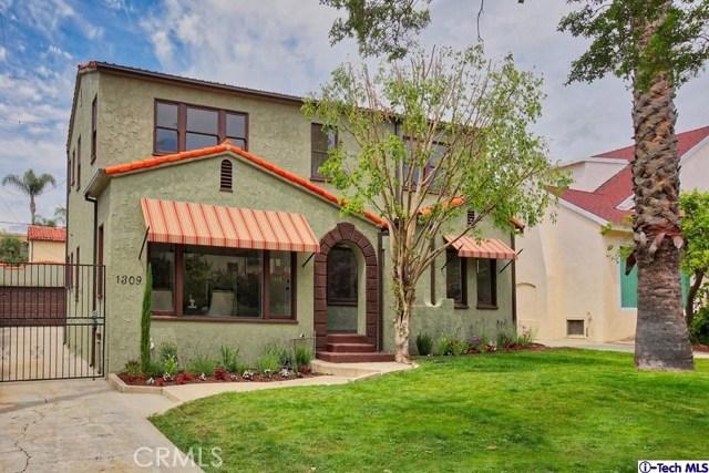 Single Family Home for Sale at 1309 Sinaloa Drive Glendale, California 91207 United States