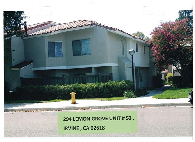 294 Lemon Grove  Irvine, CA 92618