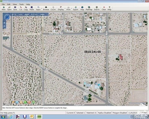 Old Dale And Datura Road, 29 Palms, California, 92277