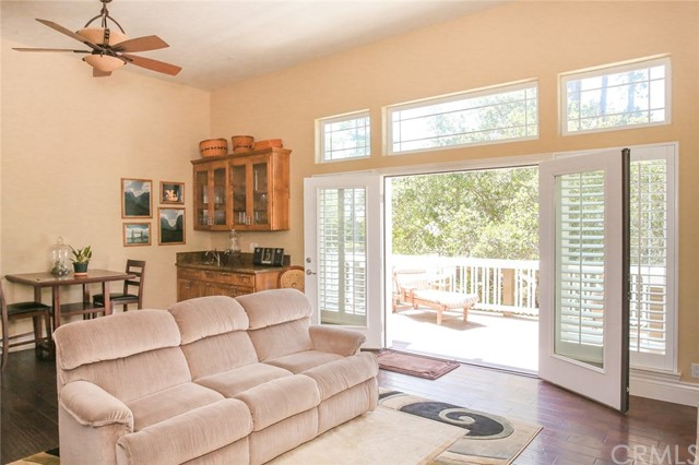 Oversized French door that opens onto a 10 x 15 Ip