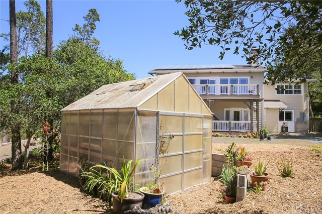 10 x 12 greenhouse. There is also a separate veget