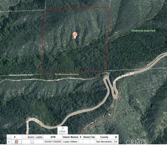 Land for Sale, ListingId:34030294, location: 20 SE 1/4 GOV LOT 20 SEC 3 TP 2S R 1W Yucaipa 92399