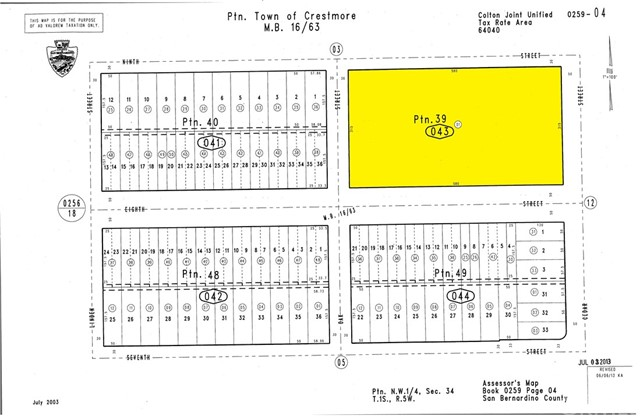Land for Sale at 18633 9th Street Bloomington, California 92316 United States
