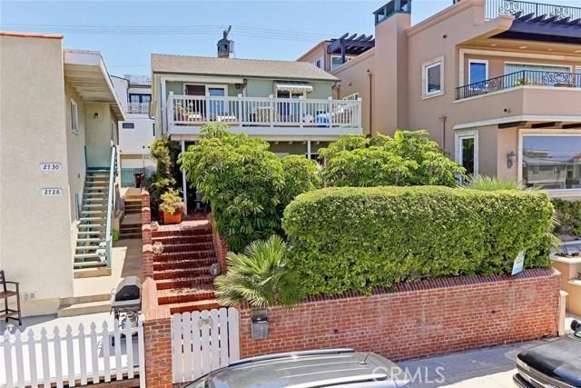 Casa para uma família para Venda às 2722 Hermosa Avenue 2722 Hermosa Avenue Hermosa Beach, Califórnia,90254 Estados Unidos