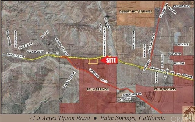 Land for Sale at 71 ac Tipton Road Palm Springs, 92282 United States