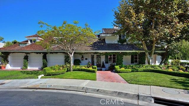 Single Family Home for Sale at 21 Lochmoor St Newport Beach, California 92660 United States