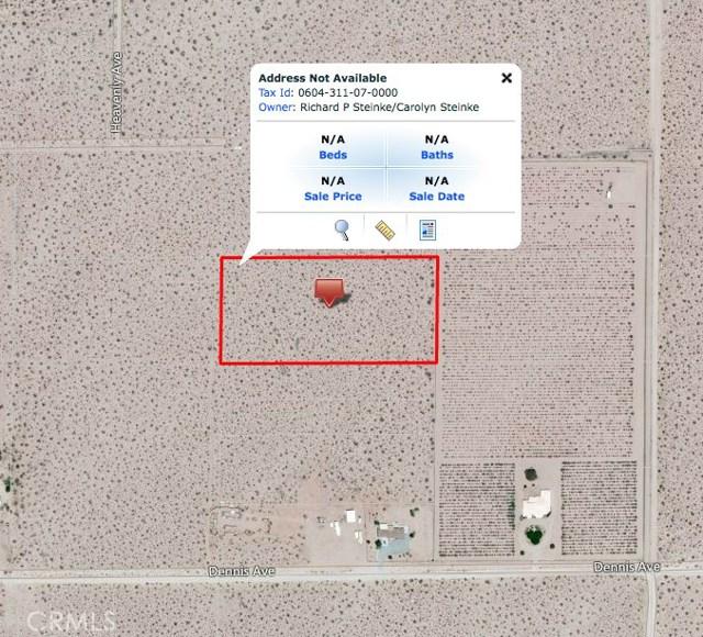 0 APN 604-311-07-0000 Joshua Tree, CA 92252 - MLS #: JT17162452