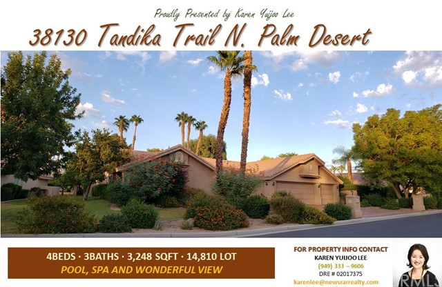 38130 N Tandika Trail Palm Desert, CA 92211 - MLS #: PW18245909
