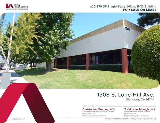Industrial for Sale at 1308 S Lone Hill Avenue 1308 S Lone Hill Avenue Glendora, California 91740 United States