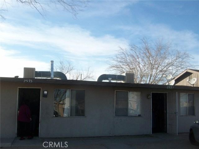 Residential Income for Sale at 2537 Desert Street 2537 Desert Street Rosamond, California 93560 United States