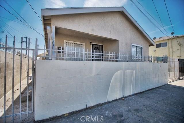 2218 Naomi Avenue  Los Angeles CA 90011