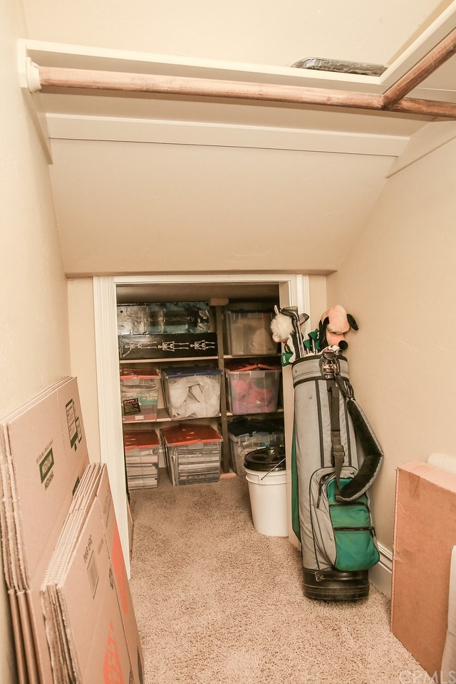 Storage under the stairs is very deep!
